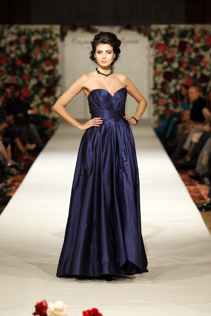 Blue Ink rochie din tafta de matase albastru electric