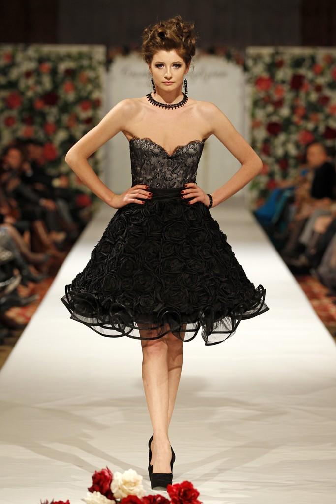 Lacy Bell - rochie scurta cu fusta tip clopot si corset