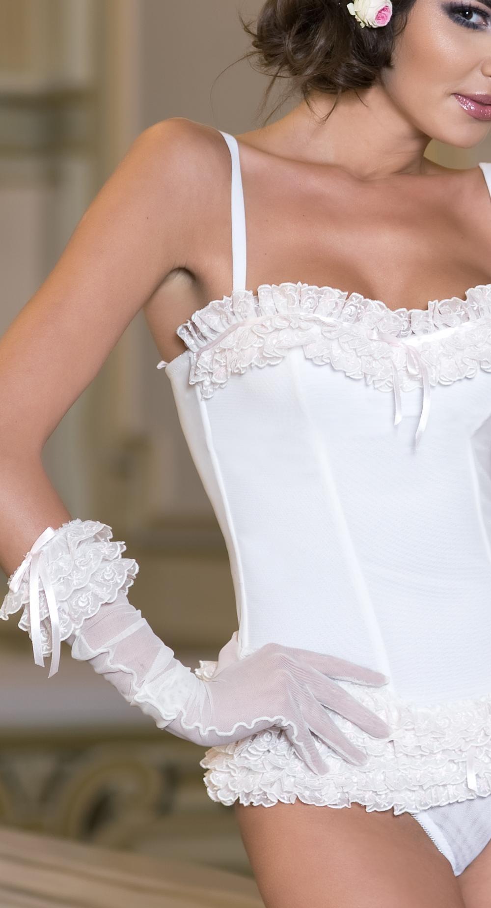 Manusi de mireasa din dantela si tul Bridal