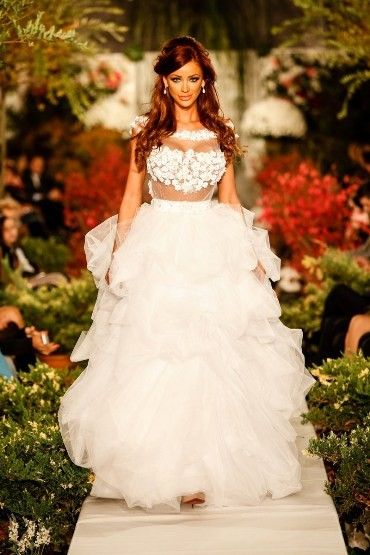 Rochie mireasa White Flower - model Bianca Dragusanu