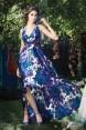 Rochie de seara imprimeu floral Hortensia