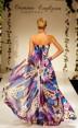 Rochie de seara cu imprimeu floral Water Lilly