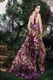 Rochie de seara lunga cu imprimeu floral Magnolia
