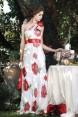 Red Poppies Rochie de seara cu imprimeu floral