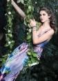 Rochie de seara cu imprimeu floral si cristale Swarovski