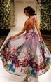 Rochie din matase cu imprimeu floral Tropical Breeze