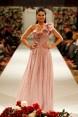 Vintage Rose rochie lunga din voal de matase