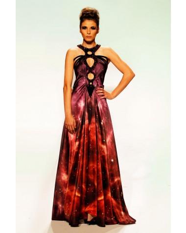Celstial - rochie lunga din matase naturala