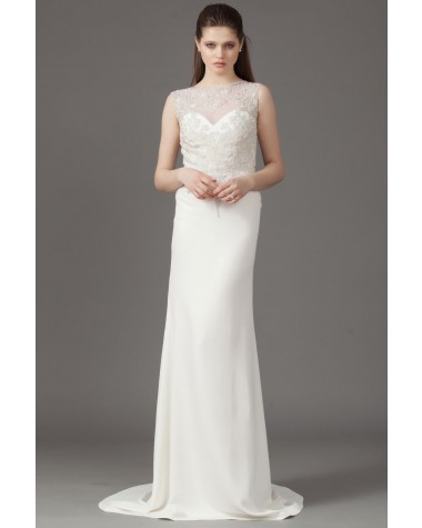 Elegant bridal gown with train Olivia