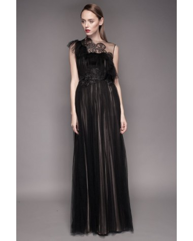 Rochie neagra de seara Grace - Colectia 2016 Cosmina Englizian