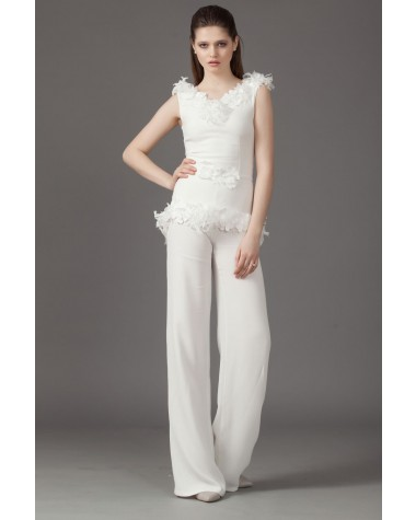 Silk bridal jumpsuit Ivvy