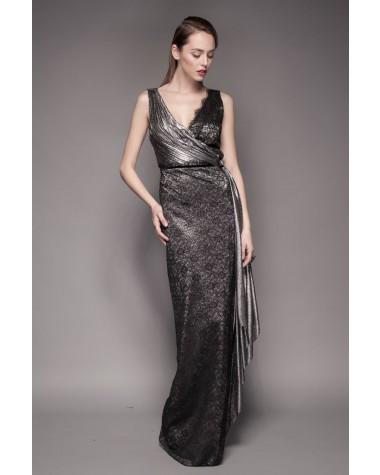 Rochie de seara din lame argintiu Florence - Cosmina Englizian 2016