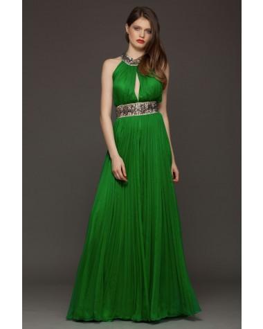 Rochie verde lunga de seara Verona